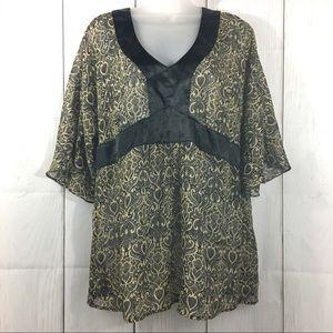Apostrophe Kimono Style Blouse